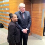 Paul Dacre, Editor of the Daily Mail with Doreen Lawrence