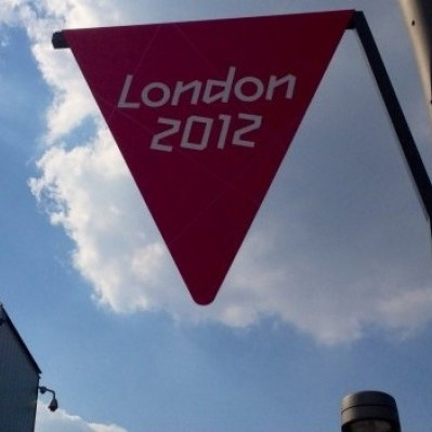 A flag at the Stratford Olympic Park