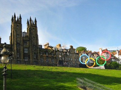 2012 Olympic rings in Scotland.