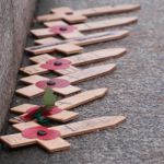 Crosses on Remembrance Sunday