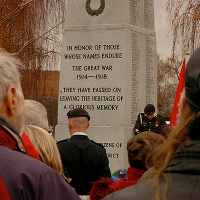 A WWI war memorial