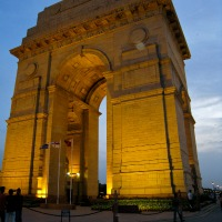The India Gate memorial to Indian soldiers who fought with British in WWI