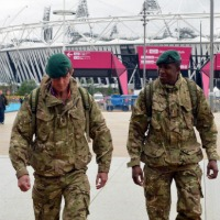 Military personnel at the Olympic Stadium in July, 2012. Photo: openDemocracy.