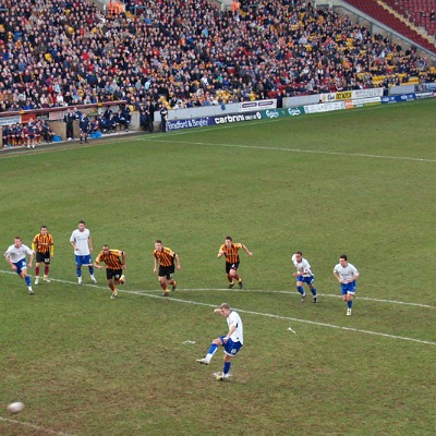 The Carlsberg Stand at the Coral Windows Stadium, home of Bradford City FC, 9th February 2008. Photo: Ingy The Wingy