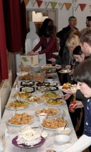 Refugee Action supporters tuck into a World Food Night event in Leeds last year