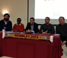 From left: Anthony Clavane, Maureen Grant, Sunder Katwala, Riz Rehman and Jason McKeown.