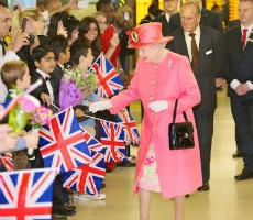 Queen Elizabeth II, accompanied by HRH The Duke of Edinburgh, visiting Birmingham as part of their Diamond Jubilee Tour. Photo: West Midlands Police
