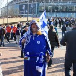 A Cardiff City fan. Photo: milos.kravcik