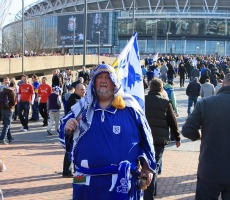 A Cardiff City fan. Photo: milos.kravcik