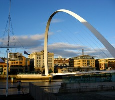 The Millennium Bridge, Newcastle Gateshead Quayside. Photo: Glen Bowman