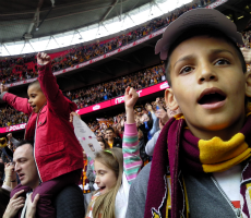 Fans at Bradford City versus Northampton Town, Wembley