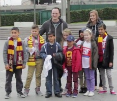 Sandy Lane Primary School students at Wembley