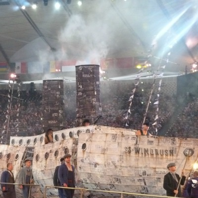 Windrush at the London 2012 Olympics opening ceremony.