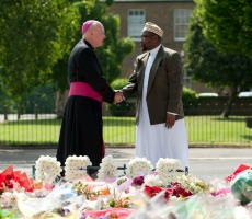 Archbishop Kevin McDonald and Imam Ali Omar in Woolwich, Friday 31st May 2013. Photo: Rooful Ali - aliwayphotography.co.uk