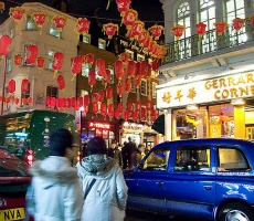 London's Chinatown during Chinese New Year, 2009. Photo: chrisjohnbeckett