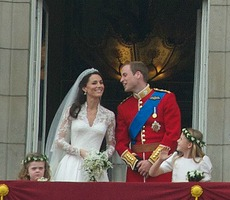 The Royal Couple on their wedding day Image: John Pannell