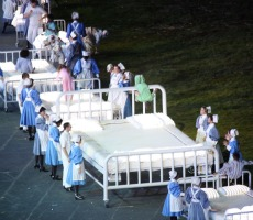 A tribute to the NHS at the opening ceremony for the London 2012 Olympic Games. Photo: Sum_of_Marc