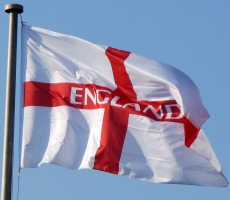 English flag. Photo: crabchick