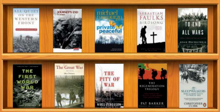 Photo: First world war bookshelf
