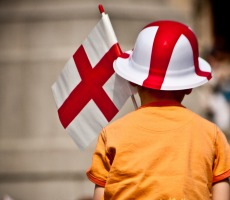 Child celebrating St George's Day 2010. Photo: garryknight