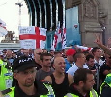 EDL march in London on 7th September 2013. Photo: David Holt London