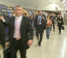 Commuters on London tube. Photo: Mike Knell