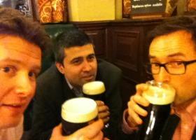 British Future team celebrating St Patrick's Day