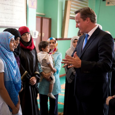 David Cameron visits North Manchester Jamia Mosque ahead of Eid 2013. Photo: Crown copyright.