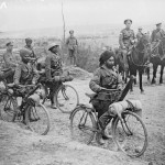 Indian bicycle troops at a crossroads on the Fricourt-Mametz Road, Somme, France, in 1916. Photo: Public Domain/Imperial War Museum
