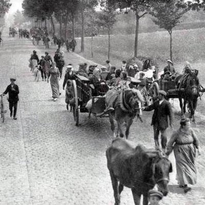 Belgian refugees in 1914. Photo: Wikimedia Commons