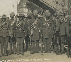 Indian soldiers preparing to depart for France from New Milton, Hampshire. Photo: Flickr via Hampshire and Solent Museum.