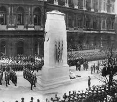 Unveiling of the Cenotaph in Whitehall, London, November 1920. Photo: Flickr via Marion Doss
