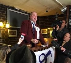Al Murray speaking at the New Inn in Sandwich 13/03/2015