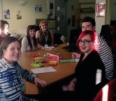 Helen with students at Barnsley College 23/02/2015