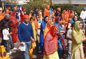 Sikh celebration in Southampton. Picture: Angus Kirk