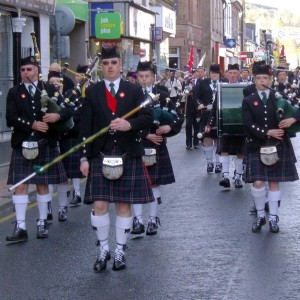 Remembrance parade, Dingwall, Ross-shire. Picture: Dave Conner