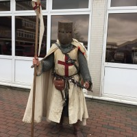 St George, pictured in Dartford pre-dragon-slaying