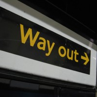 Way Out sign, pic by R/DV/RS