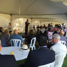 Avaes Mohammad introduces the 'A Very English Islam' garden party