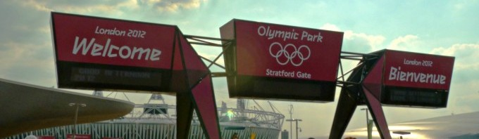The entrance to the London Olympic Park