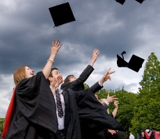 Students graduating. Photo: University of Leicester