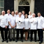 Raymond Blanc from France (right) among key figures from the British restaurant and food industry who gathered at Downing Street in 2012 to celebrate British culinary talent. Photo: Crown Copyright