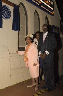 Rose Lyseight, Patrick Vernon OBE and Cllr Sandra Samuel at the unveiling ceremony.
