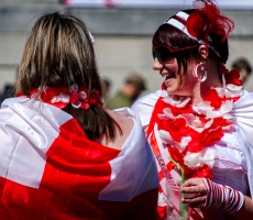St George's Day celebrations in Trafalgar Square. Photo: garryknight