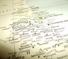 Map of northern England. Photo: ilovepie