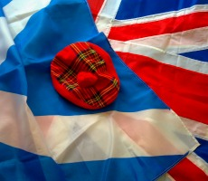 Scottish and UK flags. Photo: The Laird of Oldham