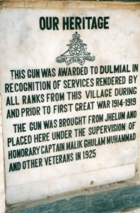 Plaque attached to base of monument. Photo: Irfan Malik
