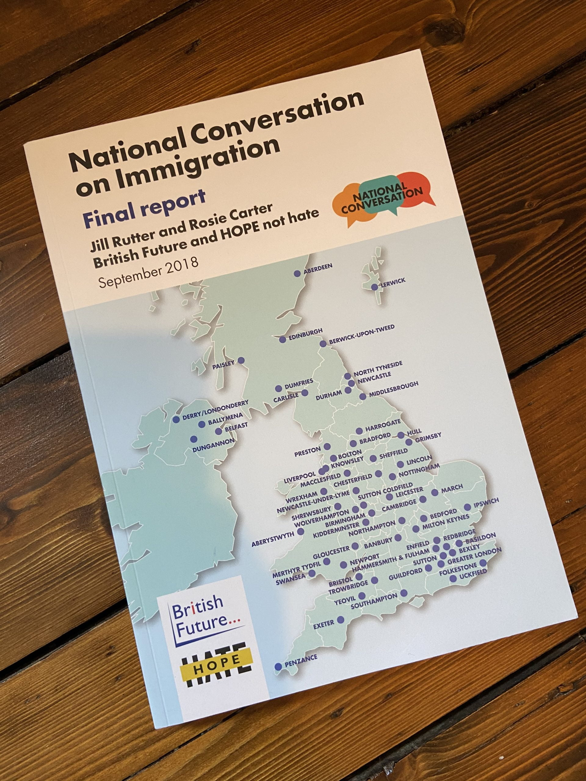 The National Conversation on Immigration: Final report