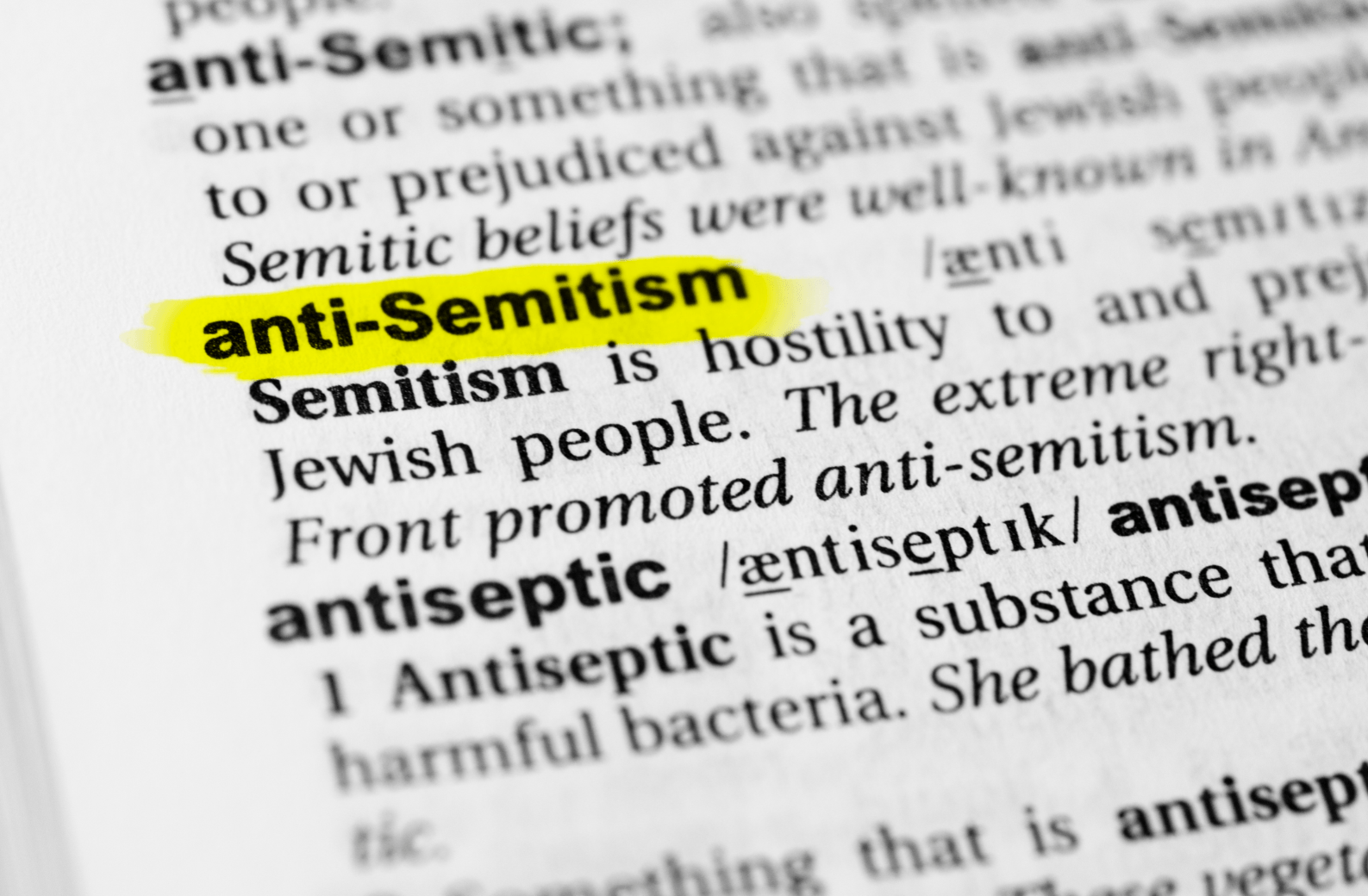 There is no excuse for anti-Semitism